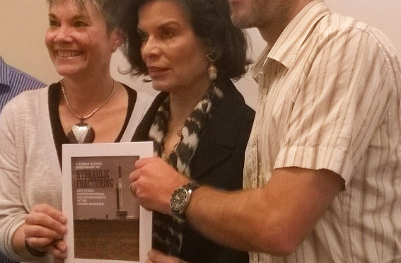 Bianca Jagger launches report on fracking and human rights in the UK