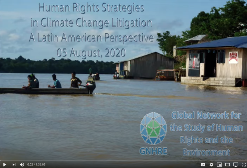 Human Rights Strategies in Climate Change Litigation A Latin American Perspective